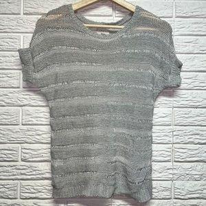 NWOT LOFT Detailed Sheer Cutout Knit T-Shirt XS